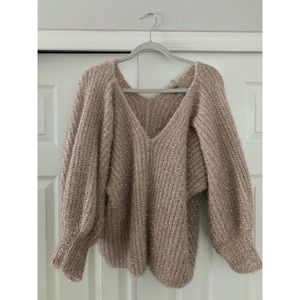 Charlotte Russe Oversized Shimmery Batwing Sweater